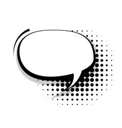 Blank template comic speech oval line bubble vector