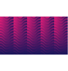 blue and purple abstract neon geometric wavy vector image