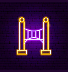 bridge neon sign vector image