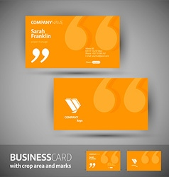 Business card template - elegant vector image