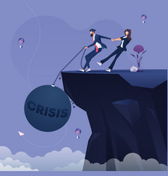 business crisis and depression concept vector image