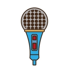 cartoon microphone music vector image