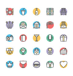 Celebration and Party Cool Icons 2 vector