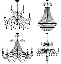 chandelier lamp vector image