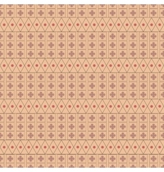 Circle and flower seamless pattern vector image