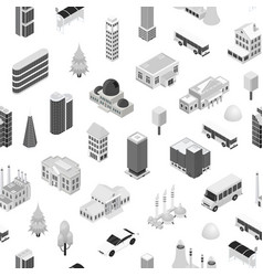 city map concept seamless pattern background 3d vector image