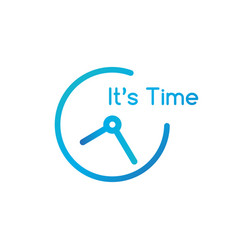 clock line icon its time sign outline and solid vector image