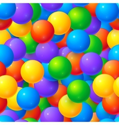 Colorful glossy balls seamless pattern vector image