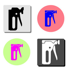 construction stapler flat icon vector image