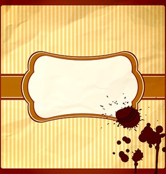 Crumpled frame with chocolate drops vector