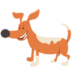 Cute spotted dog or puppy cartoon character vector