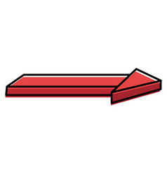 direction arrow isolated icon vector image