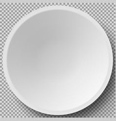 Empty white porcelain 3d plate cookware china vector