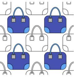 fashion bags seamless pattern for vector image