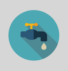 faucet flat icon vector image