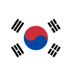 Flag in colors of south korea vector