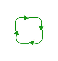 four arrow in circle refresh or recycle symbol vector image
