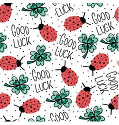 good luck charms talisman seamless pattern vector image
