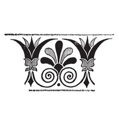 Greek band design is a decorative border vector