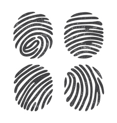Grunge finger print set vector