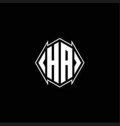 Ha logo monogram with shield shape designs vector