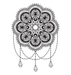 Hand drawn mandala coloping page vector
