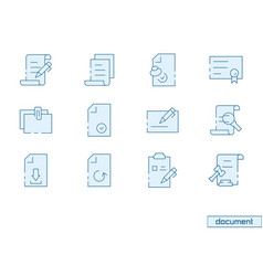 icon set document vector image