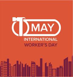 international labor day vector image