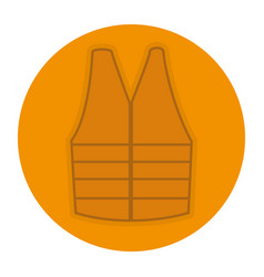 jacket construction isolated icon vector image