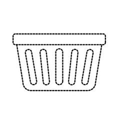 laundry basket plastic object equipment vector image