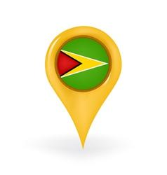 Location Guyana vector image