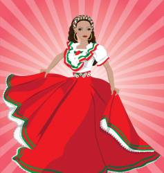 mexican dancer vector image
