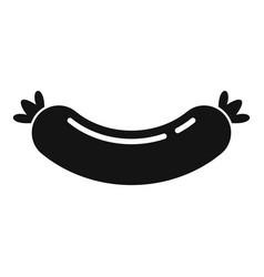 Milk sausage icon simple style vector