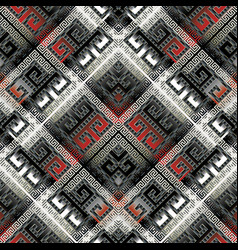 modern geometric meander seamless pattern luxury vector image