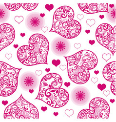 monochrome purple seamless valentine pattern on vector image