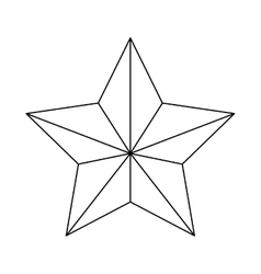 Ornamental star icon image vector