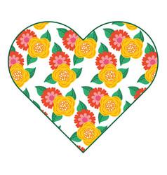 pattern shape heart flower spring ornament image vector image