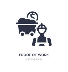 Prowork icon on white background simple vector