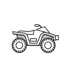 Quad bike coloring book for kids atv bike vector