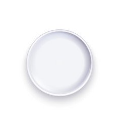 realistic detailed 3d template blank white food vector image
