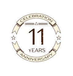 realistic eleven years anniversary celebration vector image