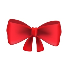 Red bow tie isolated on white background vector