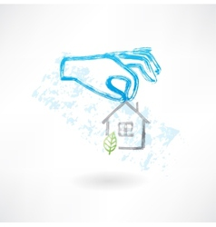 Safe house grunge icon vector