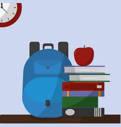 school icon set design vector image