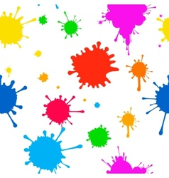 Seamless pattern of colored blots on white vector image