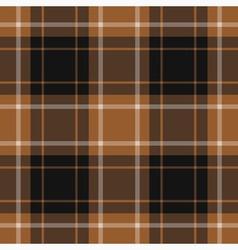 seamless tartan - brown black and white vector image