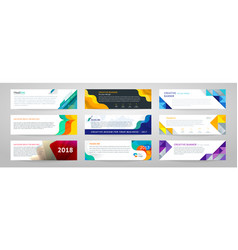 Set of abstract horizontal banner vector