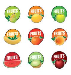 set of logos fruit natural product vector image