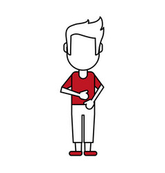standing man vector image