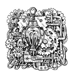 Steampunk style drawing vector